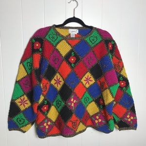 Jennifer Reed Multi Color Knitted By Hand Sweater